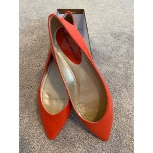 Audrey Brooke Cici Red Patent Leather Flat!